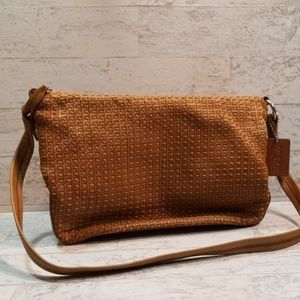 The Sax Elliott Lucca Brown Weaved Purse